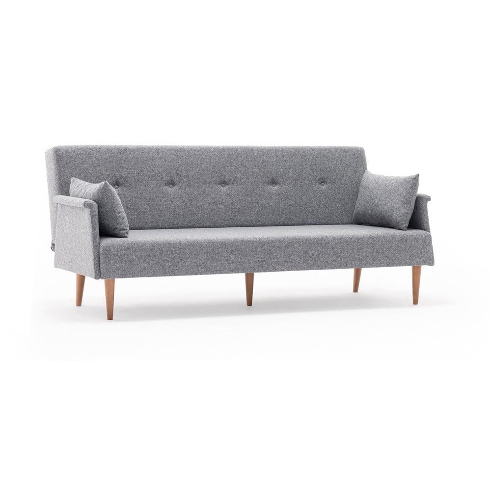 Szara sofa rozkładana Balcab Home Julia