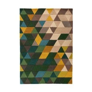 Zielony dywan wełniany Flair Rugs Prism, 120x170 cm