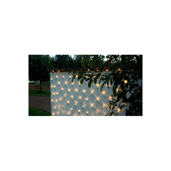 Zewnętrzna świecąca sieć Best Season Warm White, 3x3 m