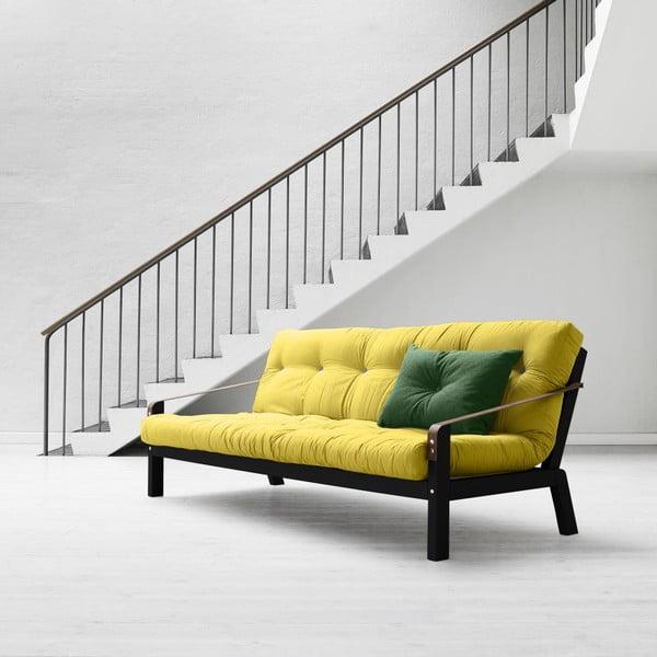 Sofa rozkładana Karup Poetry Black/Pistacio/Gris