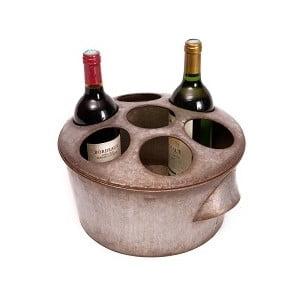 Cynowy stojak na wino Antic
