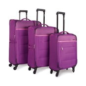 Zestaw 3 fioletowych walizek Jaslen