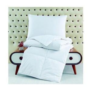 Poduszka bawełniana z wypełnieniem z gęsiego pierza, 50x70 cm