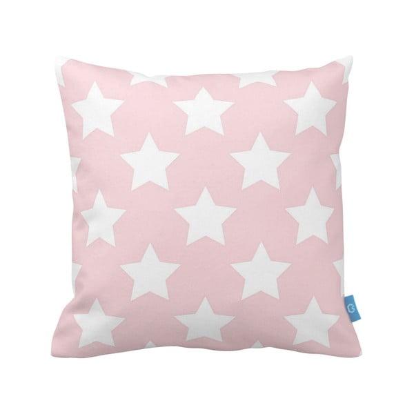 Różowo-biała   poduszka Deco Ornament no. 20, 43x43cm