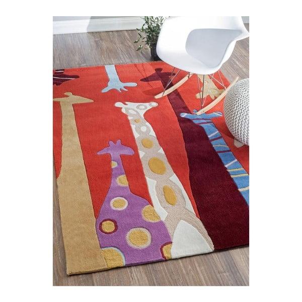 Dywan tuftowany ręcznie nuLOOM Giraffe Red, 152x213 cm