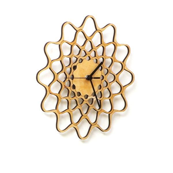 Zegar drewniany Embroidery, 29 cm