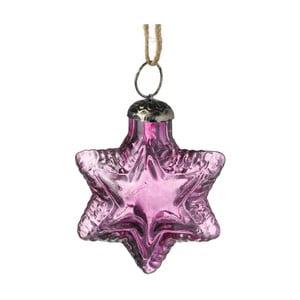 Fioletowa ozdoba świąteczna Parlane Star
