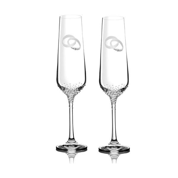 Zestaw 2 kieliszków do szampana Porte ze Swarovski Elements w eleganckim opakowaniu