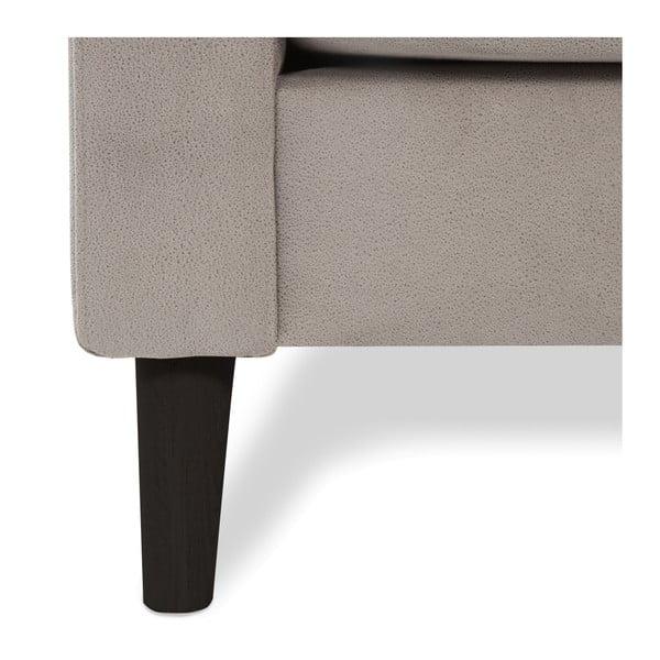 Jasnoszara sofa 2-osobowa z czarnymi nogami Vivonita Tom