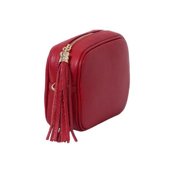 Czerwona torebka skórzana Andrea Cardone Pezzo