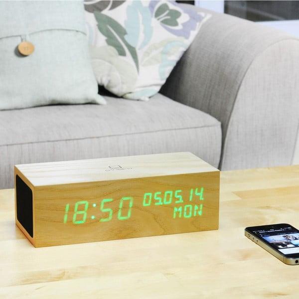 Głośnik Click Clock z budzikiem z zielonym LED