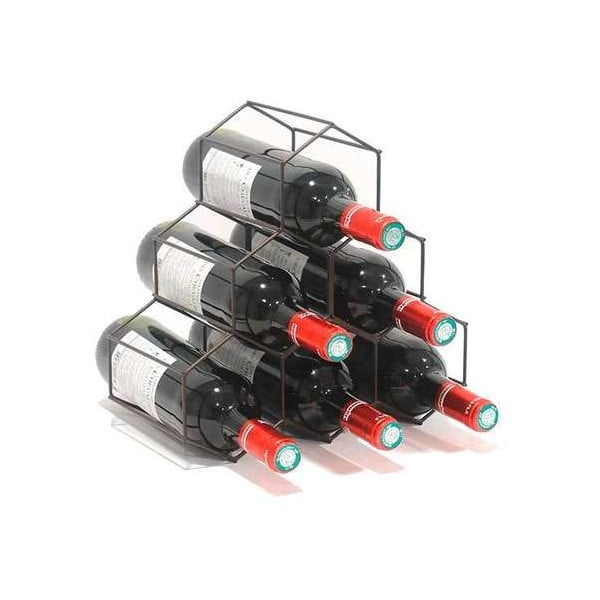 Czarny stojak na butelki wina Compactor RackMAT