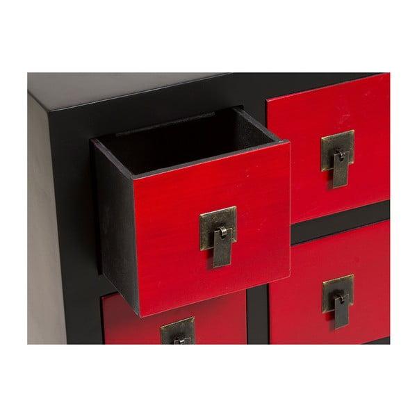 Komoda z 7 czerwonymi szufladami Santiago Pons Oriental