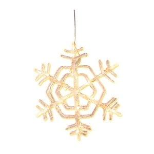 Świecąca gwiazda wisząca Best Season Crystal Snowflake, 30 cm