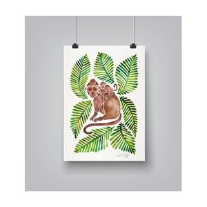 Plakat Americanflat Monkeys, 30x42 cm