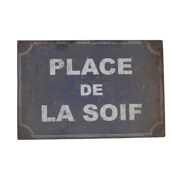 Tabliczka z blachy Antic Line De La Soif