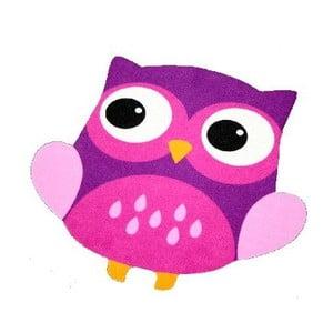 Dywan Owls - fioletowa sowa, 66x66 cm