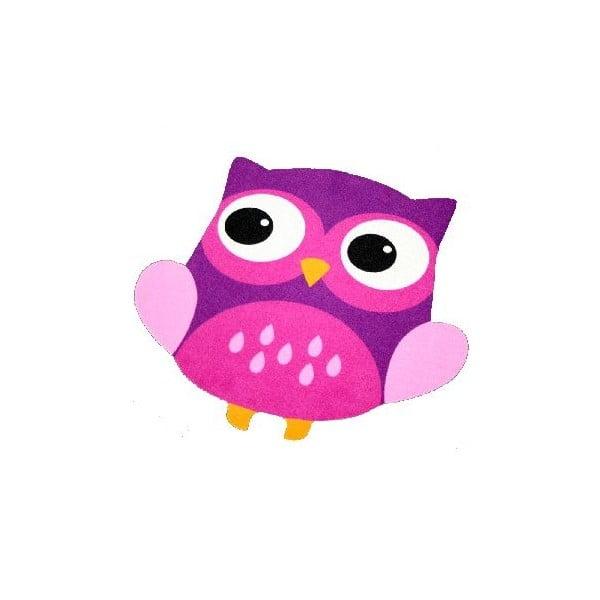 Fioletowy dywan dziecięcy Zala Living Owl, 100x100cm