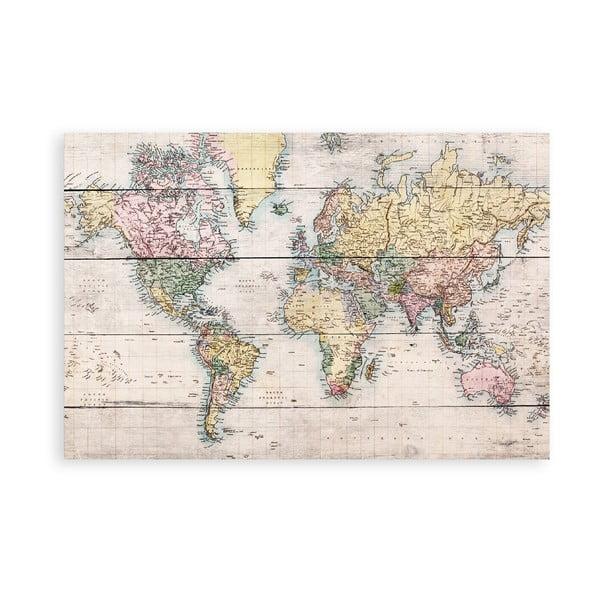 Tabliczka drewniana Really Nice Things Worldmap