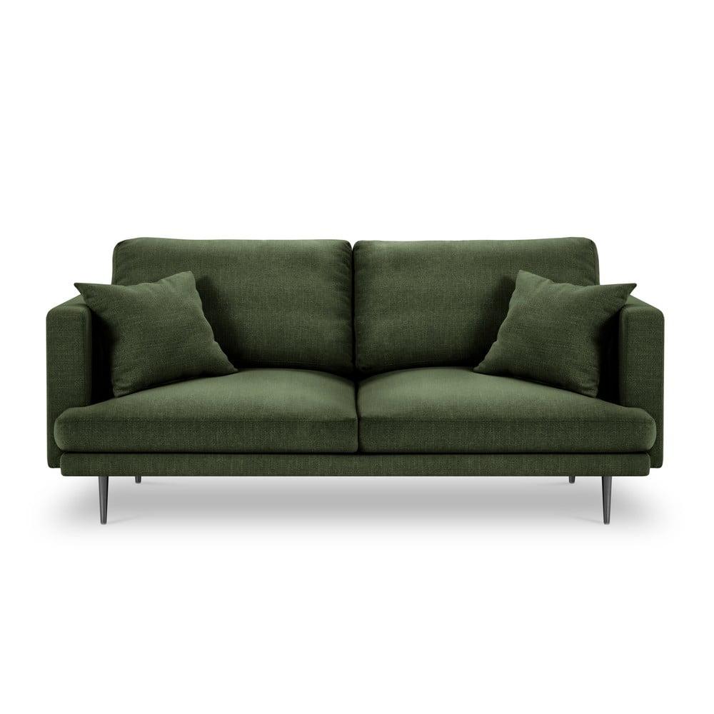 Ciemnozielona 3-osobowa sofa Milo Casa Piero