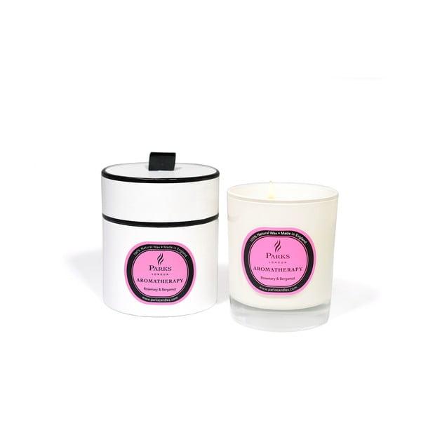 Świeczka o zapachu rozmarynu i bergamotu Parks Candles London, 45 godz. palenia