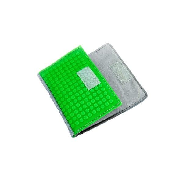 Pikselowy portfel, szary/purpurowy