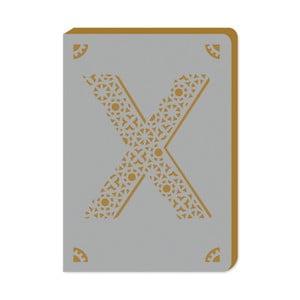 Notatnik w linie A6 z monogramem Portico Designs X, 160str.