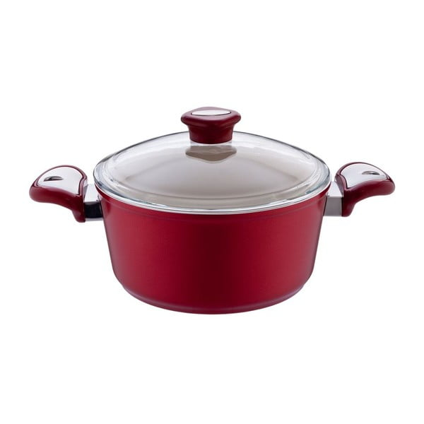 Garnek Lux Shallow Red, 2,8 l