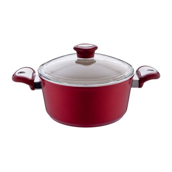 Garnek Lux Shallow Red, 2,8 l