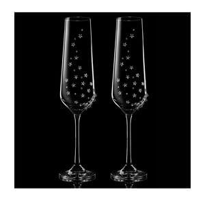 Zestaw 2 kieliszków do szampana Hera ze Swarovski Elements