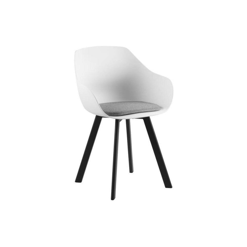 Jasnoszare krzesło z metalowymi nogami Actona Tina