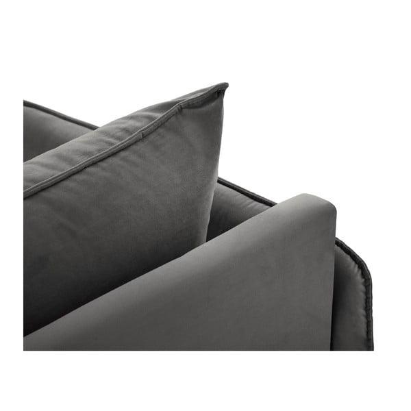 Ciemnoszary szezlong z podłokietnikiem po lewej stronie Cosmopolitan Design Vienna