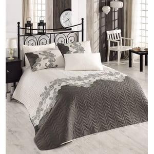 Pikowana narzuta i poszewka na poduszkę Single 309, 160x220 cm
