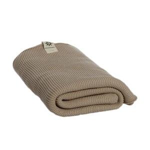 Beżowy ręcznik z bawełny organicznej Iris Hantverk, 100x150cm
