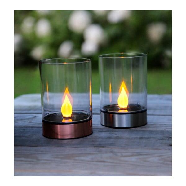 Lampa ogrodowa Solar Energy Garden Light Candle Rose