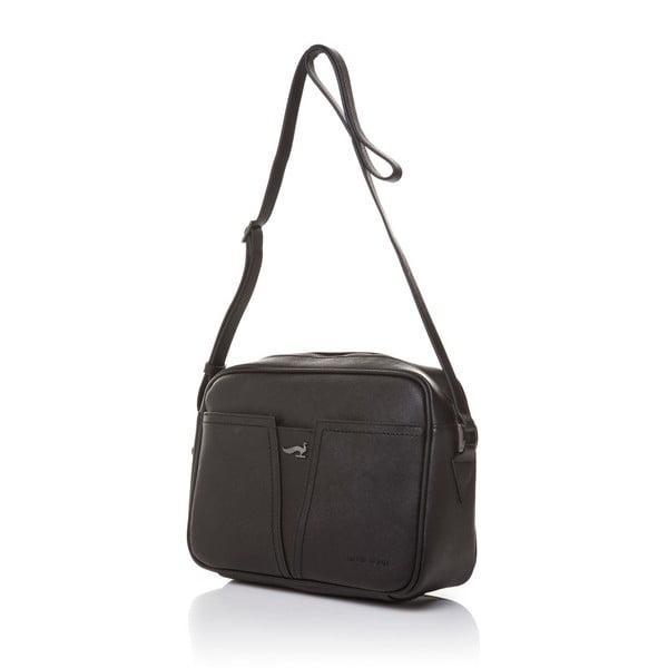 Skórzana torebka na długim pasku Marta Ponti Aipee, czarna