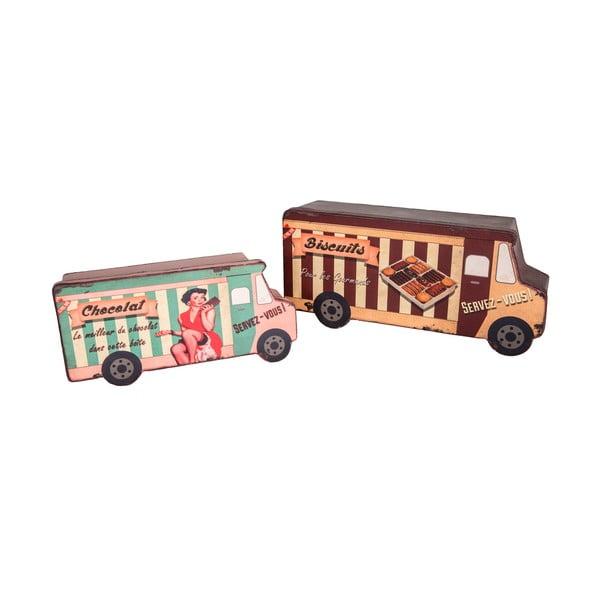 Zestaw 2 pudełek Biscuit Van