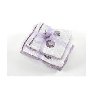 Komplet 4 ręczników z bawełny premium Tully