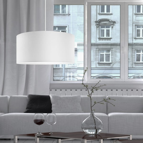 Biała lampa wisząca Bulb Attack Tres, ⌀ 50cm