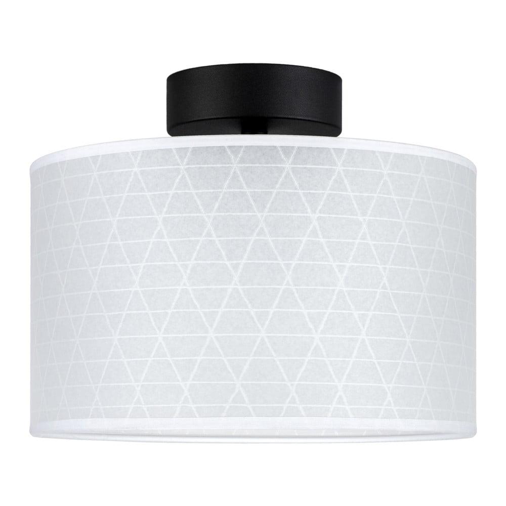 Biała lampa sufitowa ze wzorem trójkątów Sotto Luce Taiko