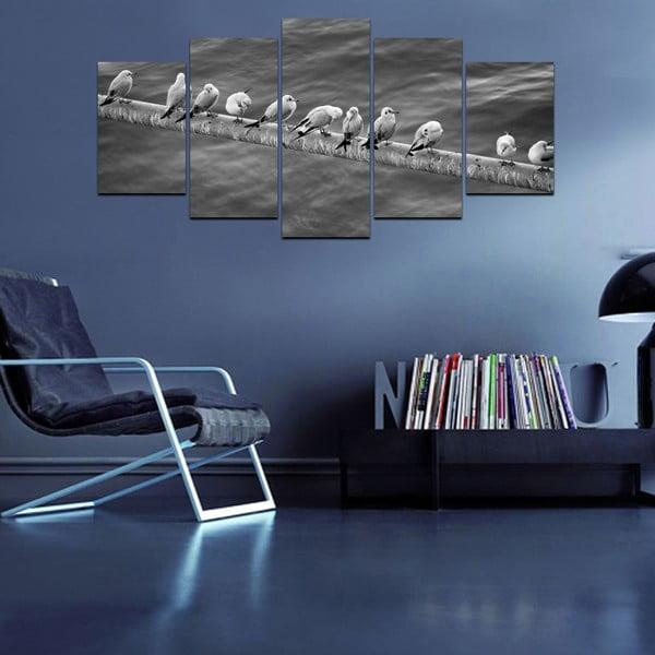 Wieloczęściowy obraz Black&White no. 15, 100x50 cm