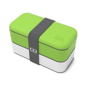 Zielono-biały pojemnik na lunch Monbento Original