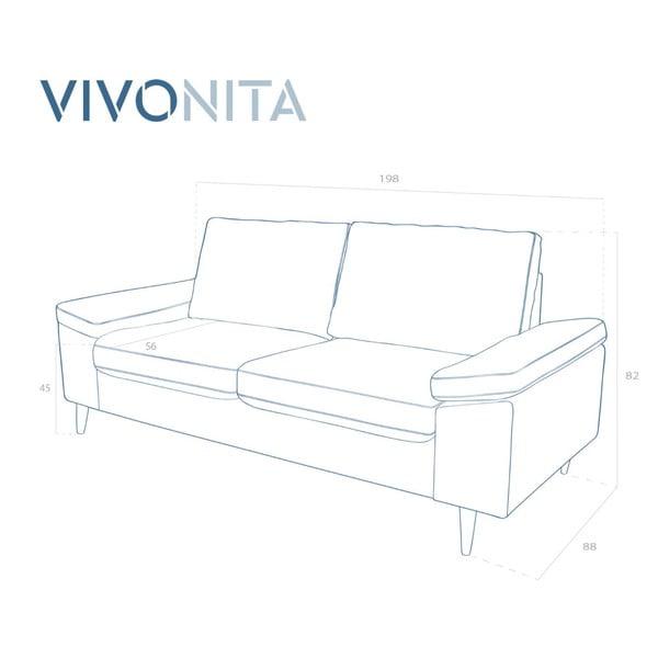 Beżowa sofa 2-osobowa Vivonita Nathan