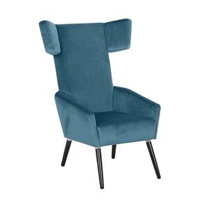 Niebieski fotel Max Winzer Elina Suede