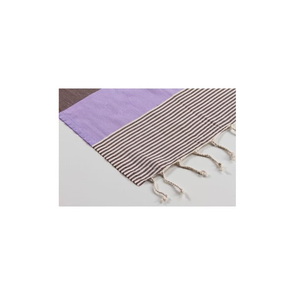 Ręcznik hamam Amerikan Lilac Brown, 100x180 cm
