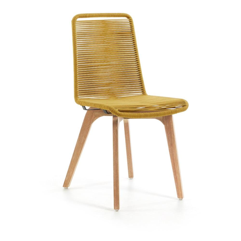Zestaw 2 musztardowych krzeseł La Forma Glendon