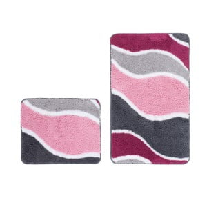 Zestaw 2 dywaników łazienkowych Lift Pink