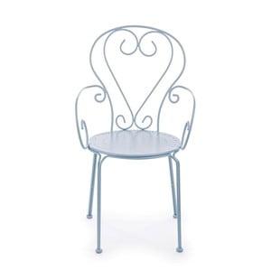 Jasnoniebieskie krzesło ogrodowe Ina