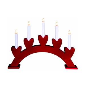Czerwony świecznik LED Best Season Anna