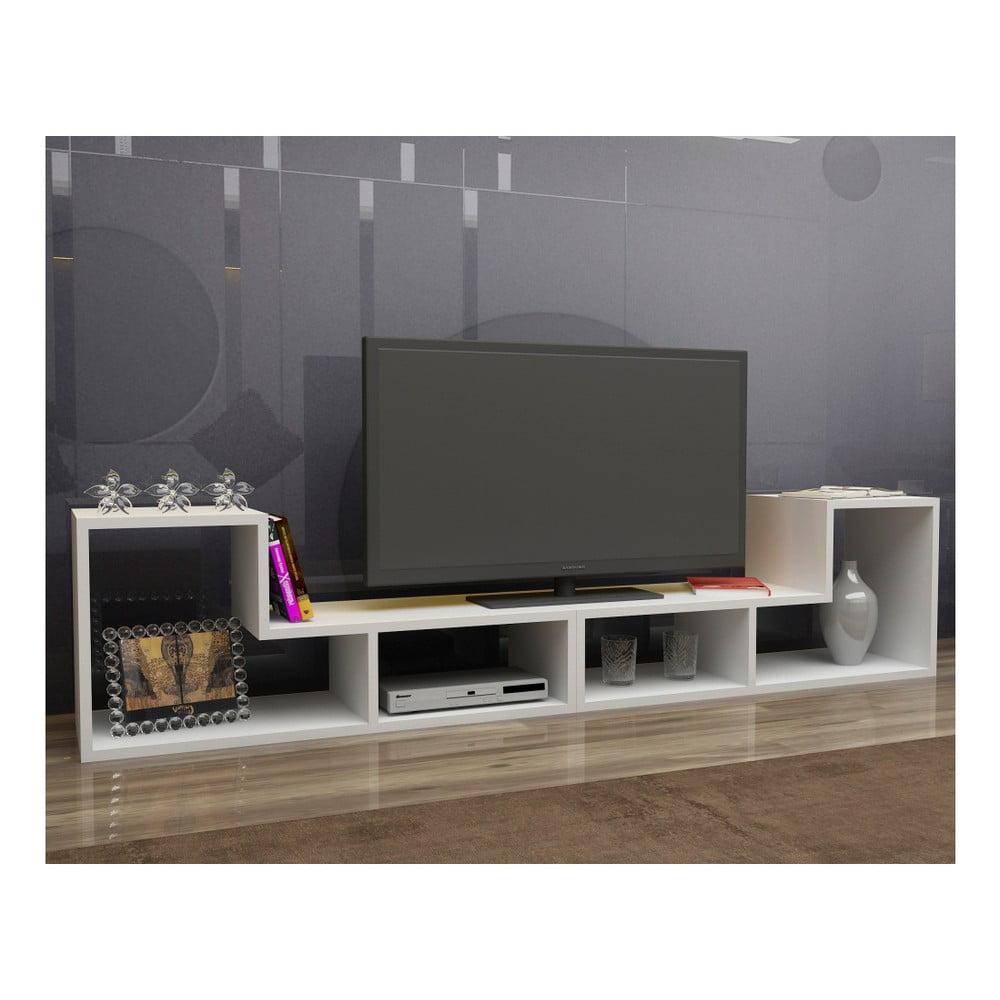 Biały Modułowy Stolik Pod Tv Mobito Design Tetris Bonami